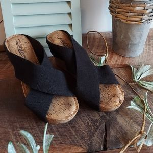 Lucky Brand Miller 2 Wedges Black Size 7